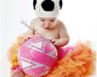 SUMMER SALE Baby Soccer Ball Hat - Newborn Beanie Halloween  Costume Outfit Winter Cap