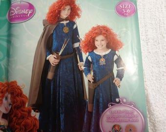 Simplicity Pattern Costumes 0201 Size 3 - 6  Renaissance Princess