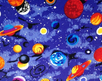 Planets solar system etsy for Outer space fabric by the yard