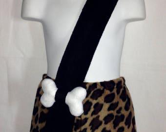 Bamm Bamm Flintstones Animal Print Caveman Custom Made Halloween Costume 12/18M 24M/2T 3T/4T 5/6