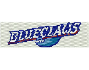BlueClaws Logo Peyote Bead Pattern, Bracelet Pattern, Bookmark Pattern, Seed Beading Pattern Delica Size 11 Beads - PDF Instant Download
