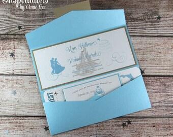 Cinderella Wedding, Disney Wedding Invitations, Fairy Tale Wedding, Wedding  Invitations