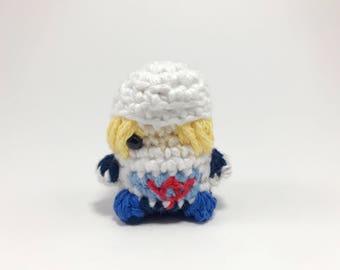Crocheted Sheik Finger Puppet from The Legend of Zelda