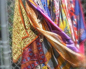 Vera Neumann Scarf Lot of 17 As Found Flaws But Still Lovely Art Bright Colors Silk Acetate Poly Blends  Floral Geometric Mix Read Details