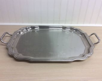 Vintage Hollywood Regency COUZON Stainless Steel Large Tray