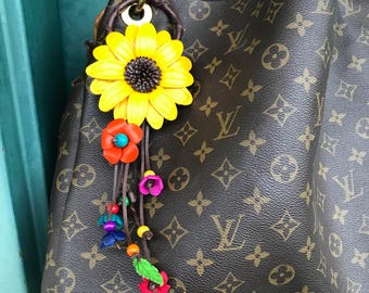 Ellen's Sunflower keychain and/or purse charm