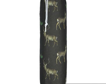 "Exclusive Designer Plastic Carrier Grocery Bag Holder Dispenser - Stag, ""Phillips Park"" Collection From Izabela Peters, Made in The UK"