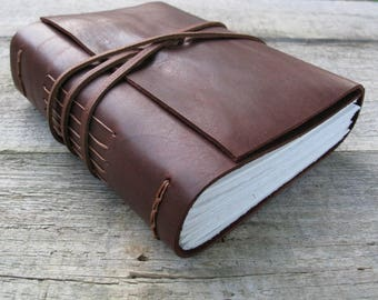 """Leather journal, """"Happiness,"""" Walt Whitman quote / medium hand bound journal / travel journal  / notebook / writer gift / 320 pages"""