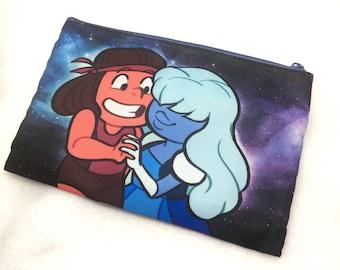 Steven Universe Ruby and Sapphire pouch pencil case