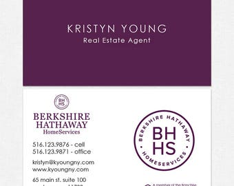 no photo BHHS real estate business cards - thick, color both sides - FREE UPS ground shipping