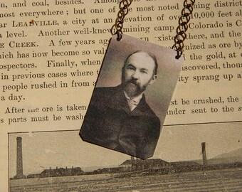 Thomas Hardy necklace mixed media jewelry Poetry literature jewelry