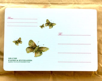 Re-use Address Label, Reuse Shipping Label, Reuse Address Label, Re-use Shipping Label, Hergebruik Etiket, Ringlet Butterflies, Go Green Art
