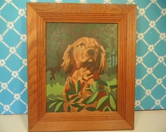Golden Retriever Dog Paint By Numbers Painting - Wood Frame