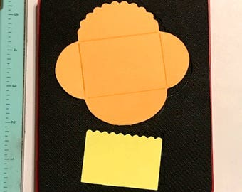Sizzix Mini Scallop Card & Envelope Red Die 38-1142  - Cleaned and Tested (No Storage Case)