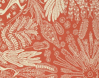 Bright Heart by Amy Butler for Free Spirit - Oh Deer - Coral - Fat Quarter - FQ - Cotton Quilt Fabric