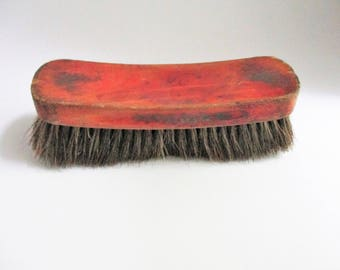 Vintage Horse Hair Shoe Shine Brush Victor Oxco Made in USA