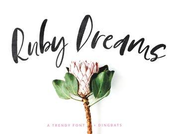 Ruby Dreams font + Dingbats