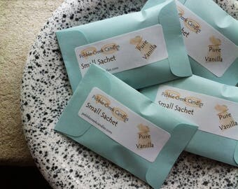 Sachets Vanilla Scented Personalized Wedding Souvenirs Party Favors Baby Shower Small Business Promotional Items Home Fragrance Eco Friendly