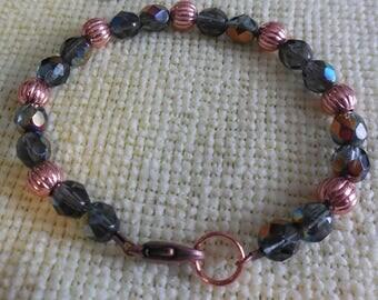 Copper and Smoke Bracelet