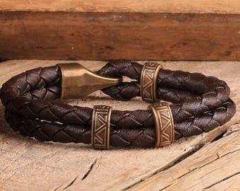 Leather bracelet, Mens Leather Bracelet, Men Bracelet, Gift for Men, Gift for Him, Leather Bracelet, Gift for Boyfriendi, Valentine's Gifts