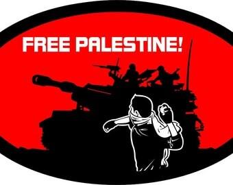 FREE PALESTINE- Sticker! Anarchist, soldarity PROTEST Patch, Activist