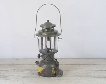 Vintage 1959 COLEMAN US Military Lantern With Funnel