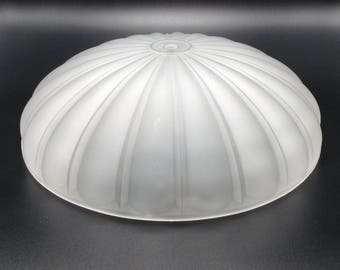 Frosted Ceiling Light Melon Style Globe Replacement Hanging Glass Lamp Shade