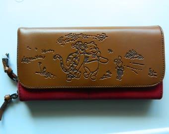 Winnie The Pooh Checkbook Wallet, Vintage Pooh Bear Tigger Wallet, Piglet Wallet, Pooh Checkbook Wallet