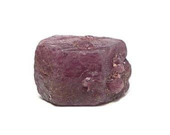 Red Ruby Crystal,  Mineral Gemstone Corundum, Small Natural Ruby Precious Gemstone African Crystal July Birthstone