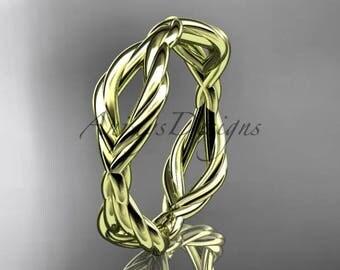 14k yellow gold rope wedding band RP898G