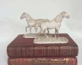 French horses sculpture 1800s Pierre Jules Mêne original plasters.