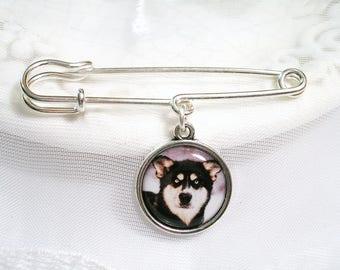 Memory Charm Lapel Pin Dog Memory Cat Charm Photo Memory Charm Pet Loss Sympathy Gift for Groom Signature Charm for Wedding Gift Bridal Gift