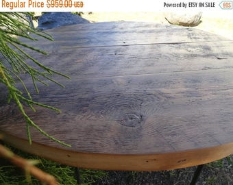 Limited Time Sale 10% OFF Antique Barnwood - Round Dining Table, 60 inches, 5-7 person