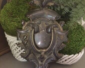 Large Antique Brass Ornate Door Knocker Brass Door Hardware