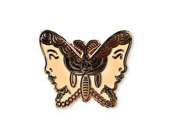 Gypsy Moth Enamel Pin