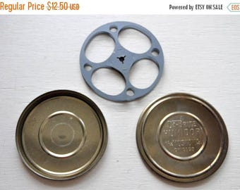 ON SALE Vintage Da Brite Humidor The Mostow Co. Chicago Film Reel & Canister