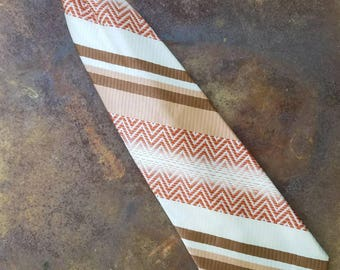 Vinatge Clip On Tie 1960s - 1970s Brown