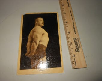 1908 Stanislaus Zbyszko postcard - pro wrestler - wrestling - rare 1900's antique - Stan - health and strength RPPC