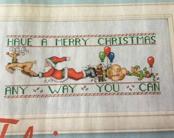 CHRISTMAS SANTA WELCOME - Cross Stitch Pattern Only