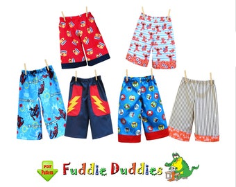 Boys Pants Pattern. Toddler Boys Sewing Patterns. Ankle Biter Beach Shorts, Shorts Pattern. Ruffle Pants. INSTANT DOWNLOAD. Fuddie Duds