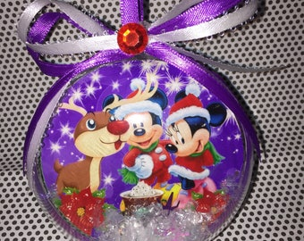 Mickey & Minnie Mouse ornaments