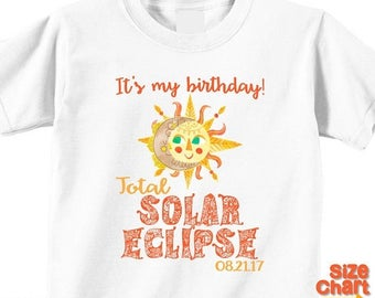 SALE Birthday Total Solar Eclipse August 21, 2017 Boho Gypsy Hippie Bohemian Design Sun Moon Family T-shirts Shirt Baby Bodysuit Adult and K