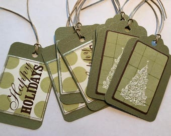Holiday Gift Tags - 8 Tags