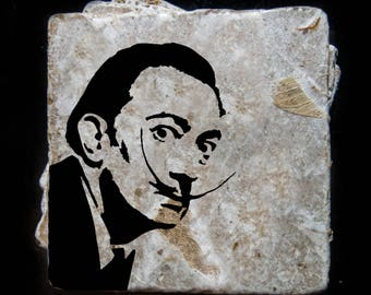 Salvador Dalí coaster set. **Ask for free gift wrapping and have them sent directly to the recipient!**