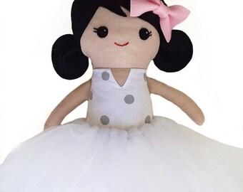 Handmade ballerina rag doll, ballerina cloth doll, ballerina fabric doll, rag doll, cloth doll, fabric doll, heirloom doll