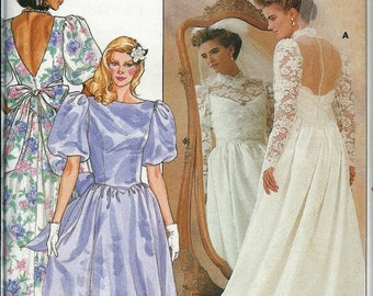 ON SALE Butterick 3616  Bridal Gown and Bridesmaid Dress Pattern, Available Sizes 10, 12 & 14 UNCUT