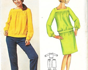 Butterick 4347 Gayle Kirkpatrick-Young Designer Pattern, Misses Overblouse, Skirt And Pants, Size 12,  UNCUT