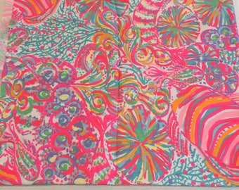 Multi Swish Fish  9 X 18 inches or 18 X 18 inches cotton dobby  ~Lilly Pulitzer~