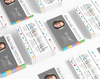 Rodan and Fields Business Cards Download - Polka Dot Party w/Photo Business Cards Personal Printable Custom Personalized