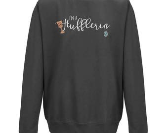 I'm A HUFFLERIN Combined Hogwarts Housed JUMPER | Unisex Fit | Harry Potter Gift